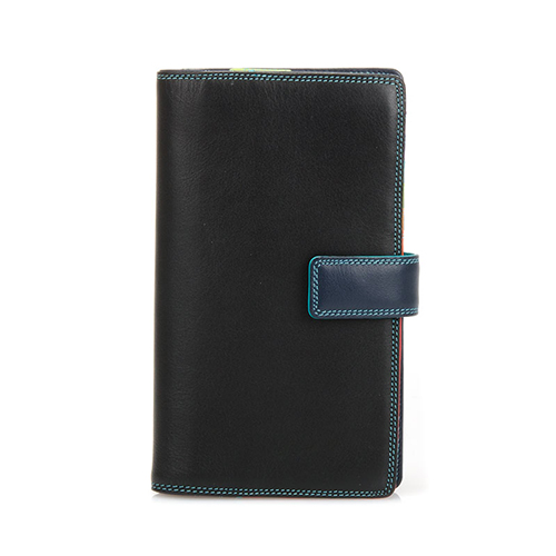 [Mywalit] Tab Wallet with zipped compartment - Black/Pace (1224-4)