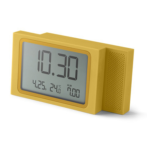 [LEXON] SLIDE lcd alarm clock yellow - LR141J7