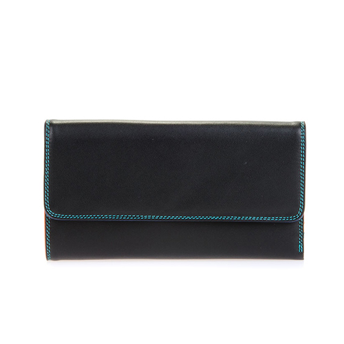 [Mywalit] Tri-fold w/Outer Zip Purse / Black Pace (269-4)