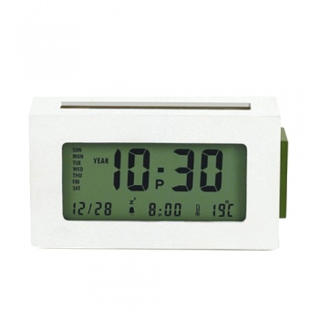 MAIZY lcd clock pla - White(LR124W)