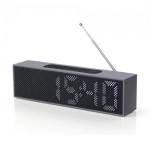 [LEXON] TITANIUM LED Clock Radio 티타늄 시계 라디오/ 건블랙 - LA83XN5